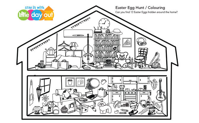 Easter Egg Hunt & Colouring Activity