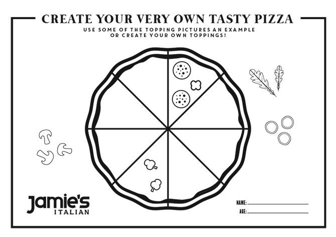 Jamie's Italian Singapore's Pizza Colouring Contest