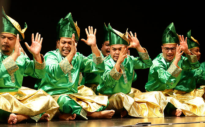 Dikir barat groups Andir Purba and Pak Nobat performed a touching tribute to the late Zaidy Nandir at the opening of Singapore Writers Festival 2018.