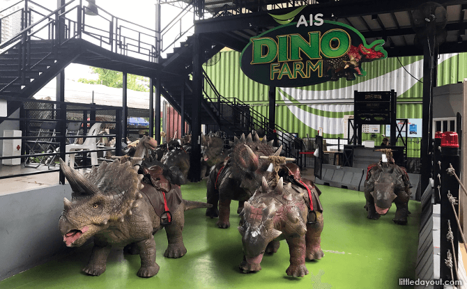 Dino Farm rides at Dinosaur Planet