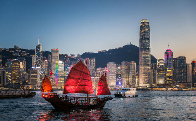 Take the DUKLING cruise down Victoria Harbour in Hong Kong