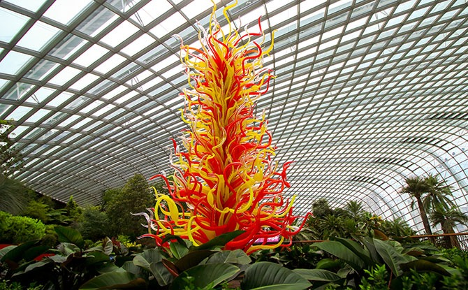 Dale Chihuly: Glass in Bloom Installations at Gardens by the Bay