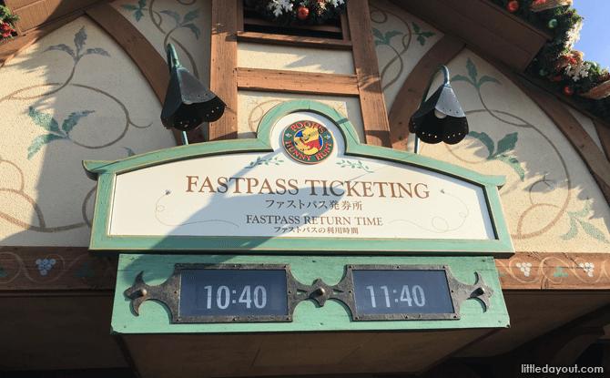 FASTPASS, Tokyo Disneyland