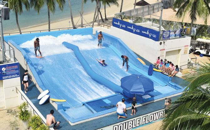 Splash and Dine at Wave House Sentosa: Flow Rider