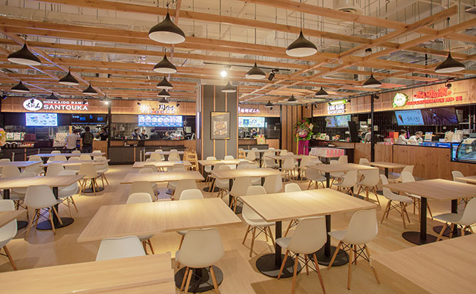 Food court at Don Don Donki at City Square Mall