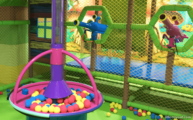 Air cannons at The Forest, Kidzland