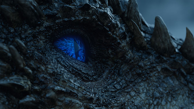 Viserion, the Night King's Ice Dragon from the HBO Original series GAME OF THRONES