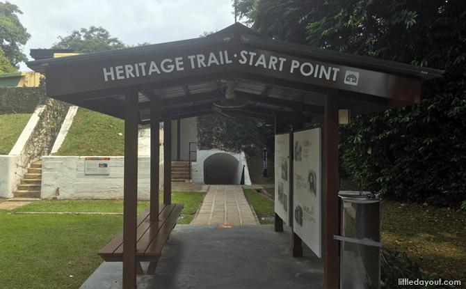 Heritage Trail Starting Point, Fort Siloso, Sentosa