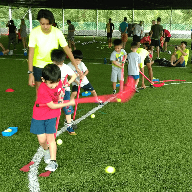 Children enjoy learning 10 different sports at Ready Steady Go Kids.