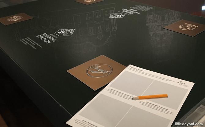 Brass Rubbing Station - Activity Stations for Kids at the Indian Heritage Centre