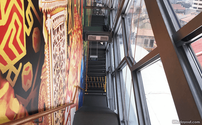 Stairs leading from the fourth to third floors at IHC