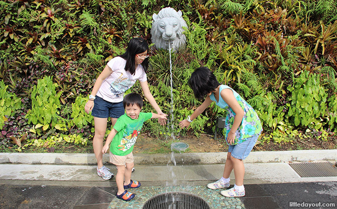 Merlion Water Spout, Gardens by the Bay