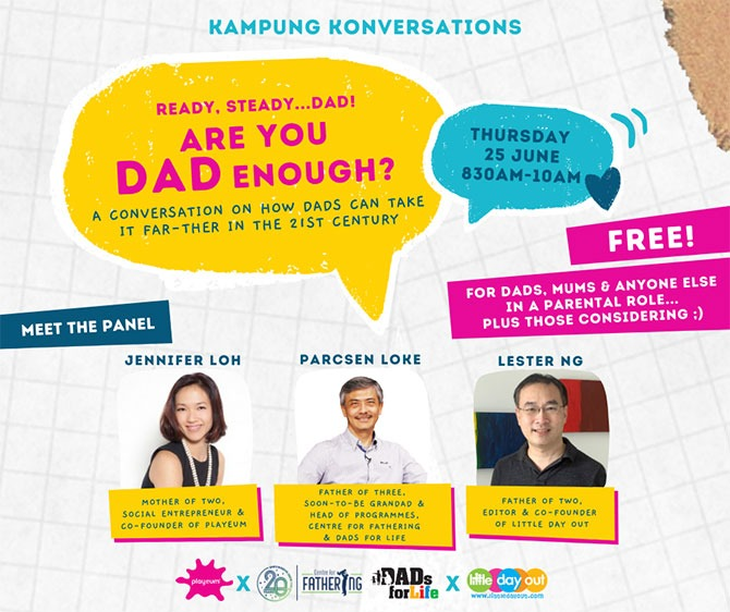 Interactive Sharing Session - Playeum's Kampung Konversation Are You Dad Enough