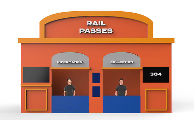 Rail Station Booth