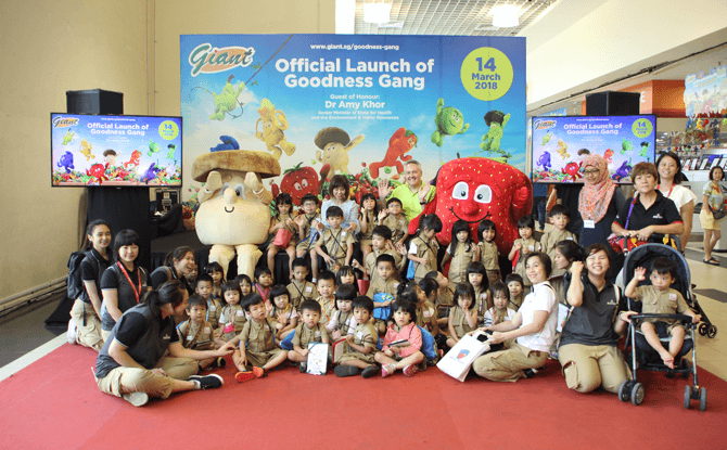 Launch of Goodness Gang at Giant