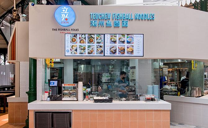 F&B stalls at Food Folks @ Lau Pa Sat