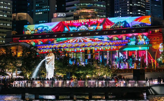 Light Projections at Marina Bay: Artworks For A Brighter Future