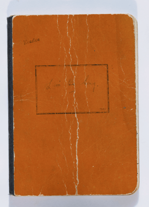Lim Bo Seng's personal diary, Image Courtesy of National Museum of Singapore, National Heritage Board