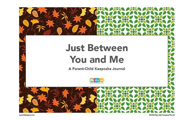 Parent-Child Keepsake Journal Printable: Written Conversations