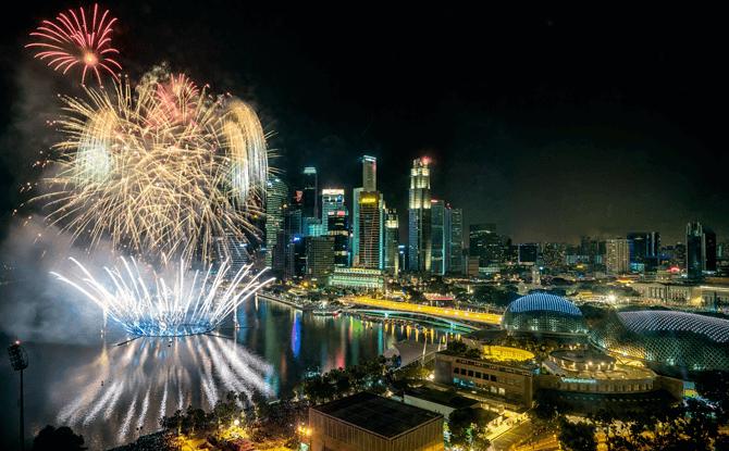 Fireworks. Photo by Bryan van der Beek, Courtesy of Esplanade - Theatres on the Bay