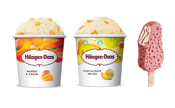 Häagen-Dazs Launches New Summer Flavours: Raspberry Stickbar, Cantaloupe Melon and Mango & Cream