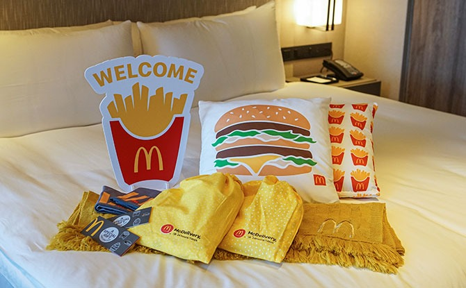 Get Exclusive Merch With McDelivery x Klook Happiest Night-In Staycation Packages