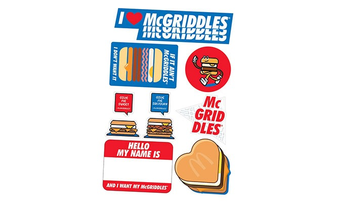 Get McGriddles Stickers with a McGriddles Feast