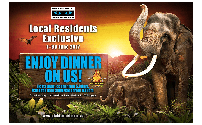 Night Safari June 2017 Promotion