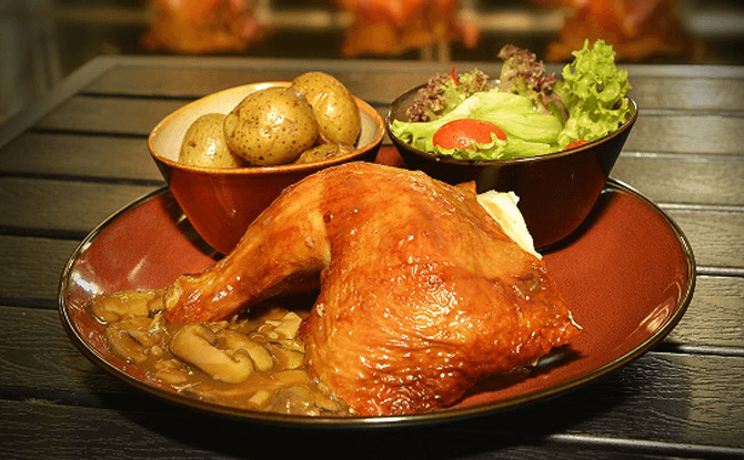 Jungle Rotisserie's Roast Chicken Meal