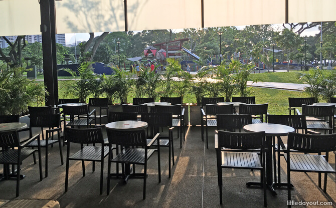 Outdoor Seating at Marine Cove Dining Outlet