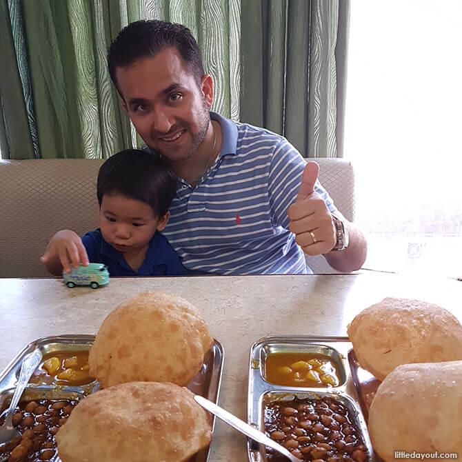 Crispy Chola Bhatura for breakfast