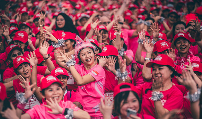 Pink Groove mass dance at Pink Ribbon Walk 2018