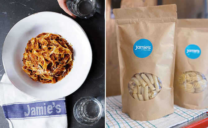 Jamie's Italian Is Giving A Pack Of Fresh Pasta With 2 Pasta Dishes Ordered This Weekend