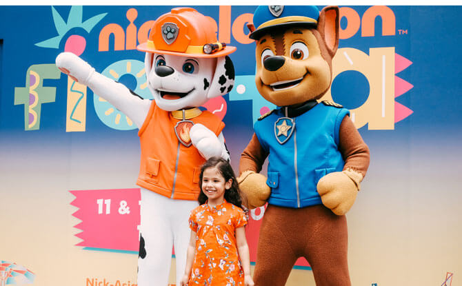 Nickelodeon characters will also be making appearances at the Nickelodeon Fiesta