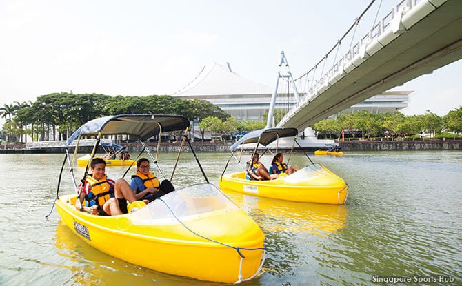 Pedal-Biking and Pedal Boats at Singapore Sports Hub