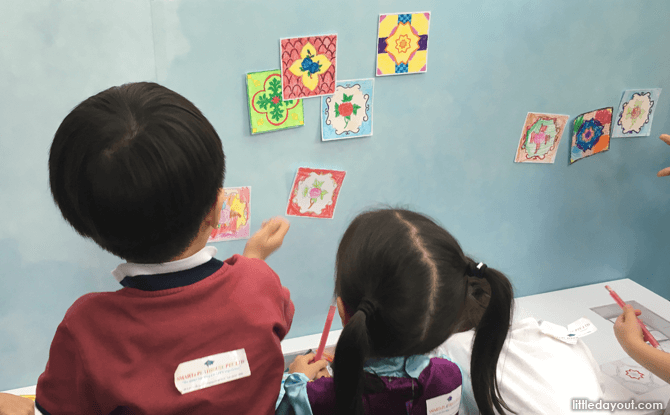Peranakan Tile Activity, Children's Season at National Museum of Singapore 2017