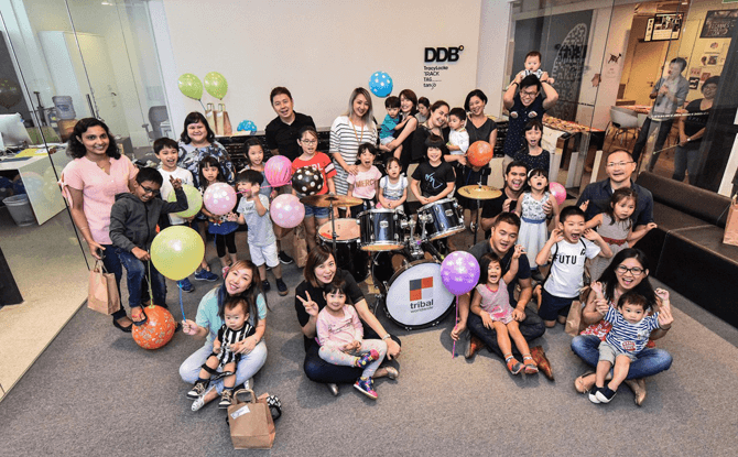 DDB Group hosted around 19 families and 25 children of their employees with a variety of activities organised in celebration of My Family Weekend.