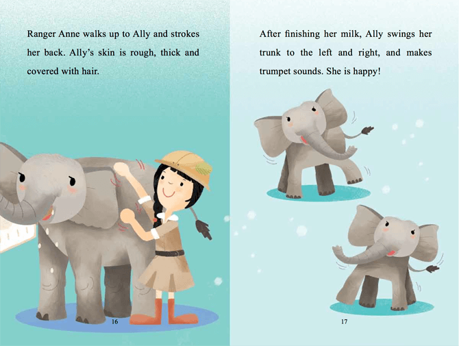 A peek inside the book 'Ranger Anne and the Noisy Elephant'