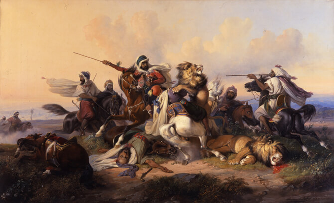 Raden Saleh Lion Hunt