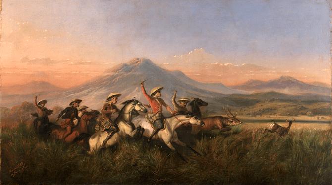 Raden Saleh Six Horsemen Chasing Deer