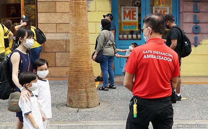 Safe Distancing Ambassadors at Universal Studios Singapore