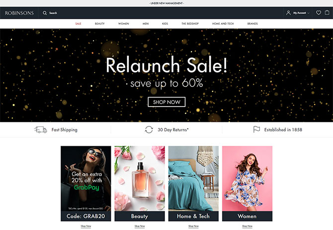 Robinsons Online Opening Specials