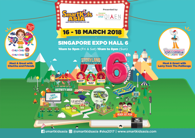 SmartKids Asia 2018 - 16 to 18 March 2018, Singapore Expo Hall 6
