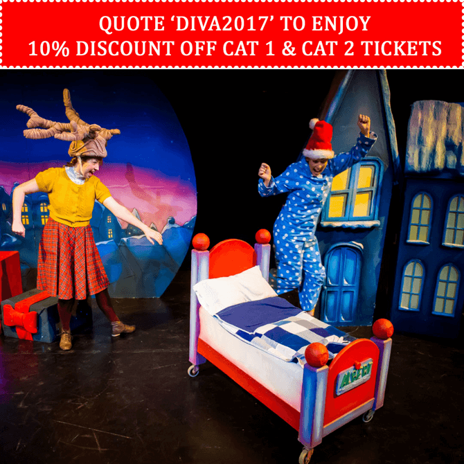 Enjoy discounts to Santa's Little Helper at SOTA Drama Theatre in Singapore