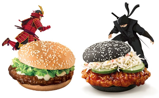 McDonald's Samurai Beef Burger And Ninja Chicken Burger Are Storming In For The Holidays