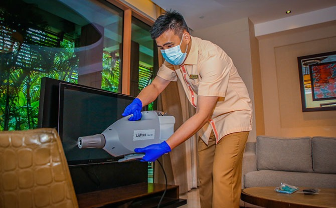 Resorts World Sentosa has implemented stringent measures for room cleaning.