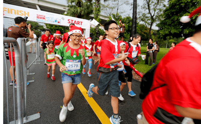 Make-A-Wish Singapore's Santa Run for Wishes