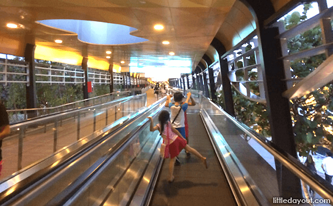 Travellators along the Sentosa Boardwalk