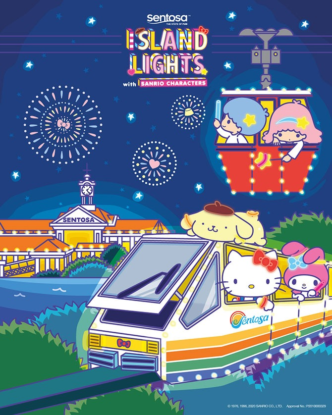 See Sanrio Characters at Siloso Beach
