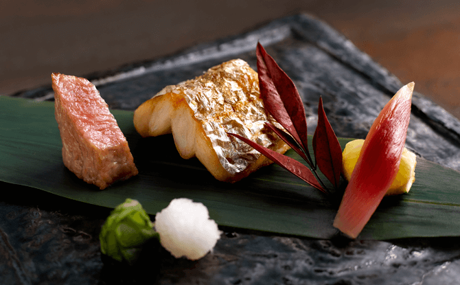 Shoukouwa Grilled Sabre fish Tachiuo and Tuna belly Otoro